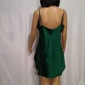 Victoria's Secret green silk chemise